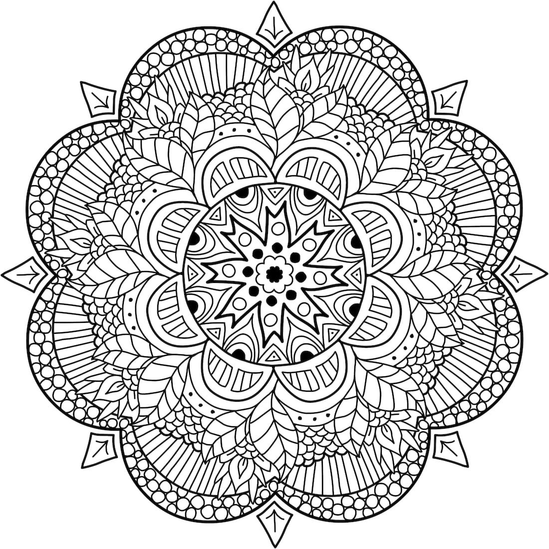 Pin by careyanne yager on coloring pages pinterest coloriage coloriage adulte and colorier - Mandala adulte ...