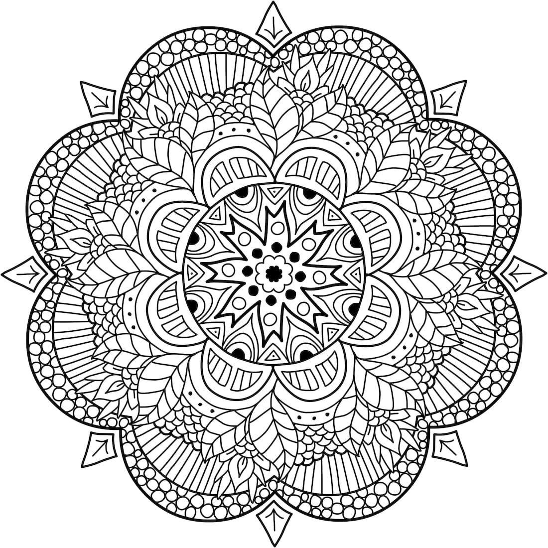 Loi Krathong Coloring Page Mandala Coloring Mandala Coloring