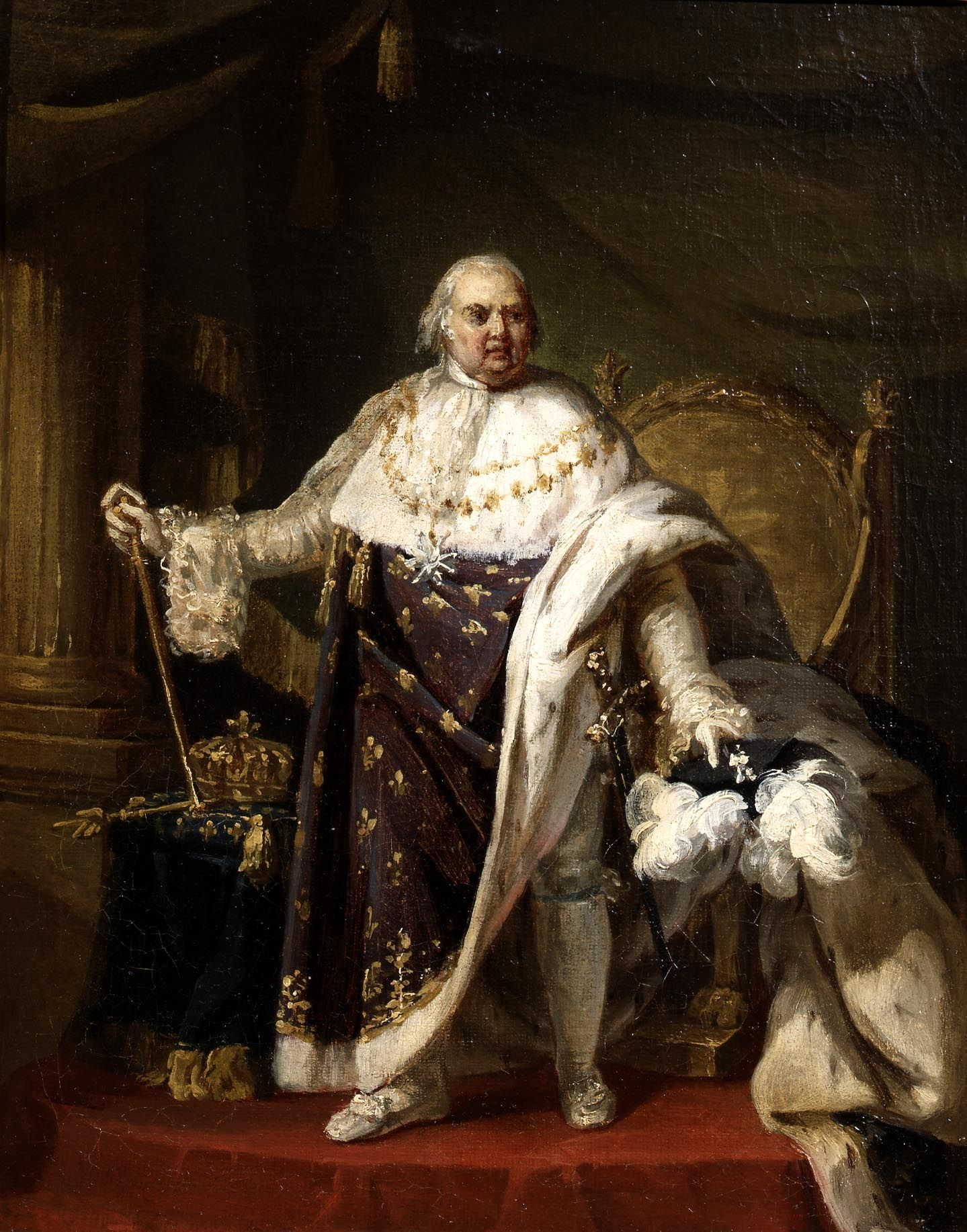 Anthony Francois Callet - - - Louis XVIII (1755 - 1824) 1814c. | Koning