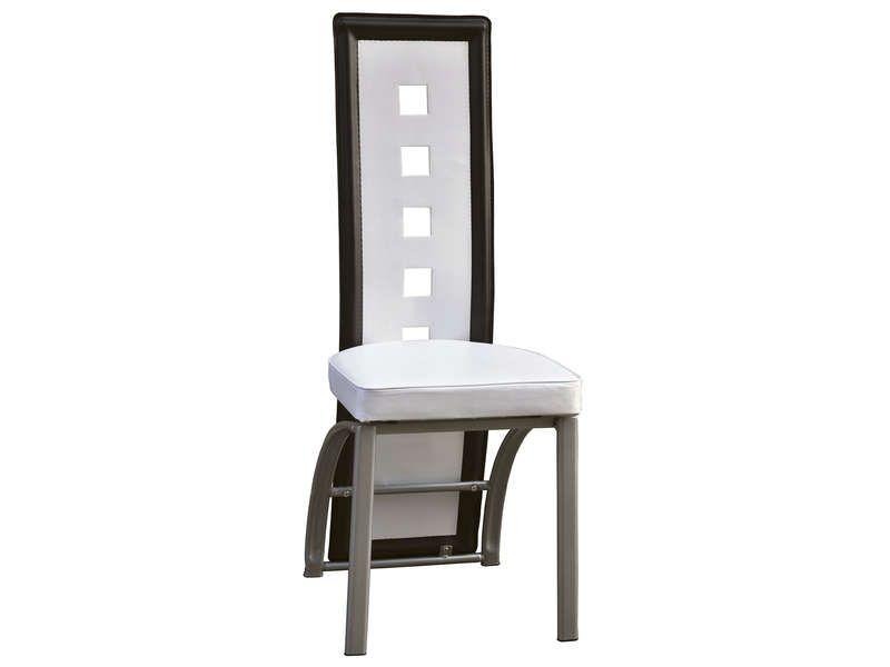 chaise en pu bright 2 coloris blanc