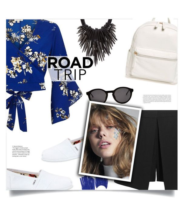 """Rev It Up: Road Trip Style"" by loloksage ❤ liked on Polyvore featuring River Island, Alexander McQueen, TOMS, BP., Eskandar, Thierry Lasry and Oris"