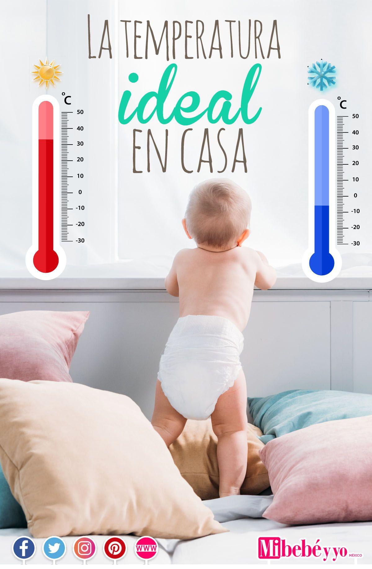 Cuál Es La Temperatura Ideal Para El Bebé Cuando Estás En Casa Resolvemos Todas Tus Dudas Bebe Temperatura Cosas Para Bebe