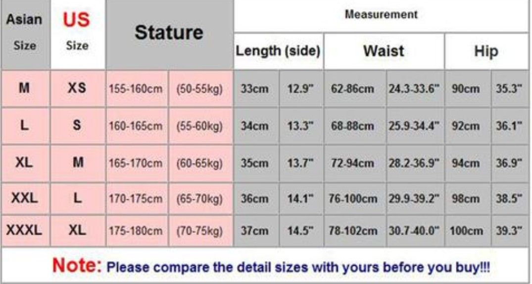 Size chart image by Samantha Sharp on Wish | Chart, Size