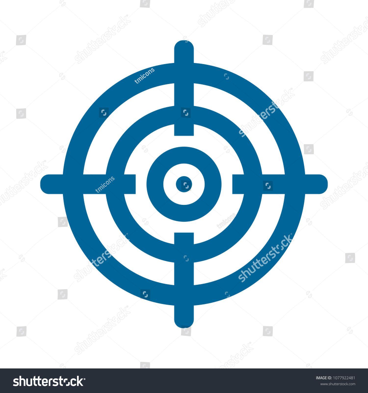 Target Goal Icon Target Focus Arrow Marketing Aim Sponsored Affiliate Icon Goal Target Focus Children Illustration Icon Stock Vector