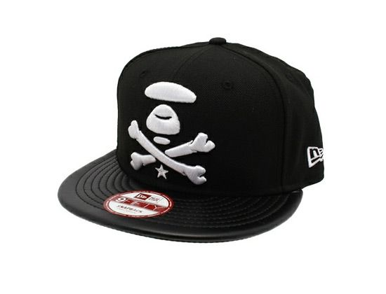bb8ac7a6c5a Leather 9Fifty Snapback Cap AAPE BY A BATHING APE