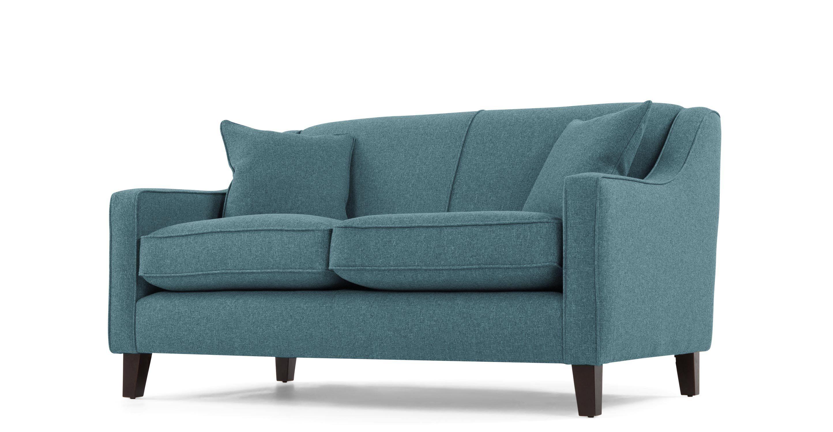 Home Ava Compact 2 Seater Fabric Sofa Teal Fabric Sofa Charcoal Sofa Sofa