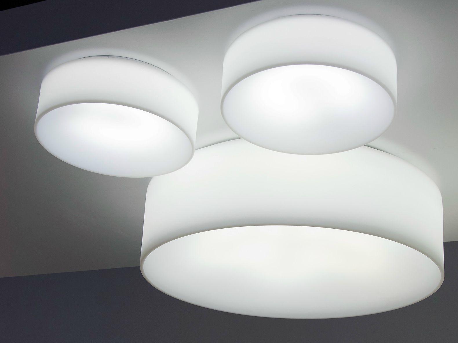 Plafoniere Da Portico : Hole light lampada da soffitto fluorescente by martinelli luce