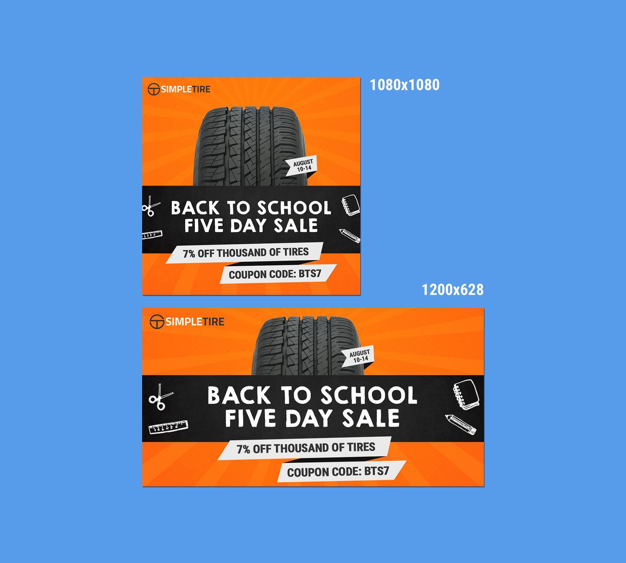 Simple Tire Banner Ad Banner Ad Design By Renzter Desisng