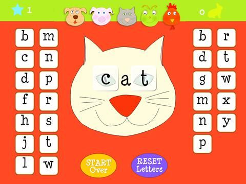 Free App Oct  A PreK Spelling App To Form And Spell Three