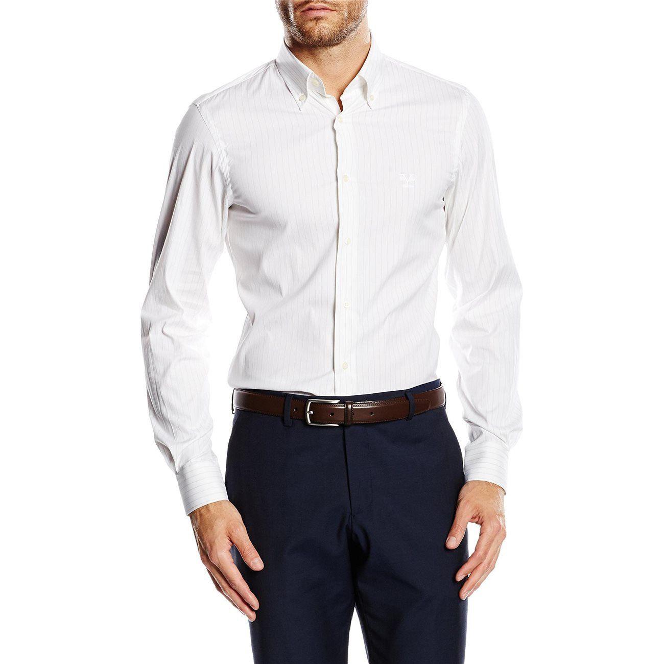 Versace 19.69 Abbigliamento Sportivo Srl Milano Italia Fit Slim Button Down Neck Shirt SBD01