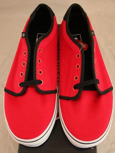 ac23d334e6 VANS Authentic 159 Vulcanized Canvas Skate Shoes Size 10 Red   Black  Sneakers VANS Authentic 159 Vulcanized canvas skate shoes red   black  sneakers