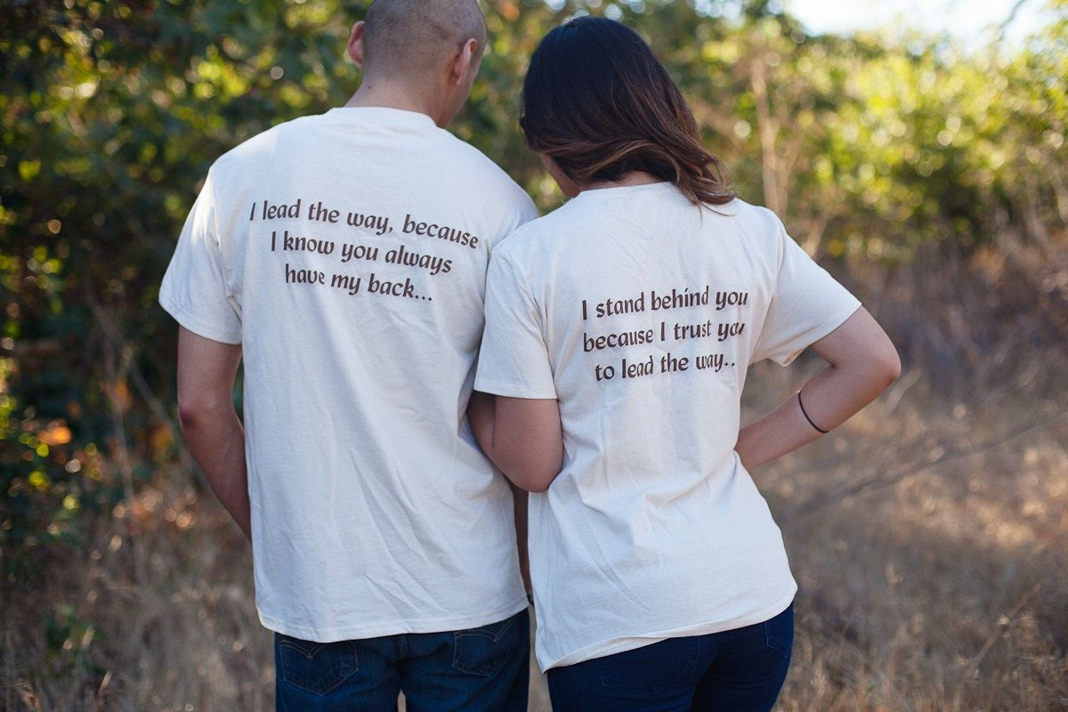 Matching couples shirts anniversary gift idea tshirt set for