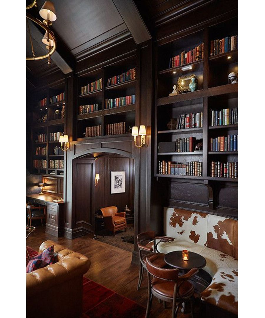 28 Dreamy Home Offices With Libraries For Creative Inspiration: Man Caves Design Inspiration
