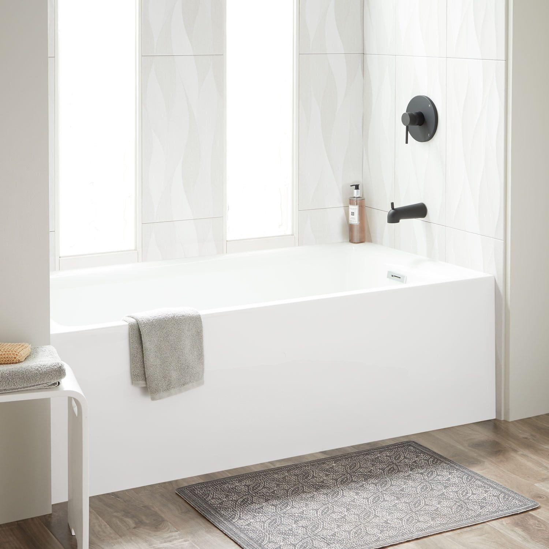 60 Rolfe Acrylic Alcove Tub White Bathroom Design Small Bathroom White Tub What is an alcove tub