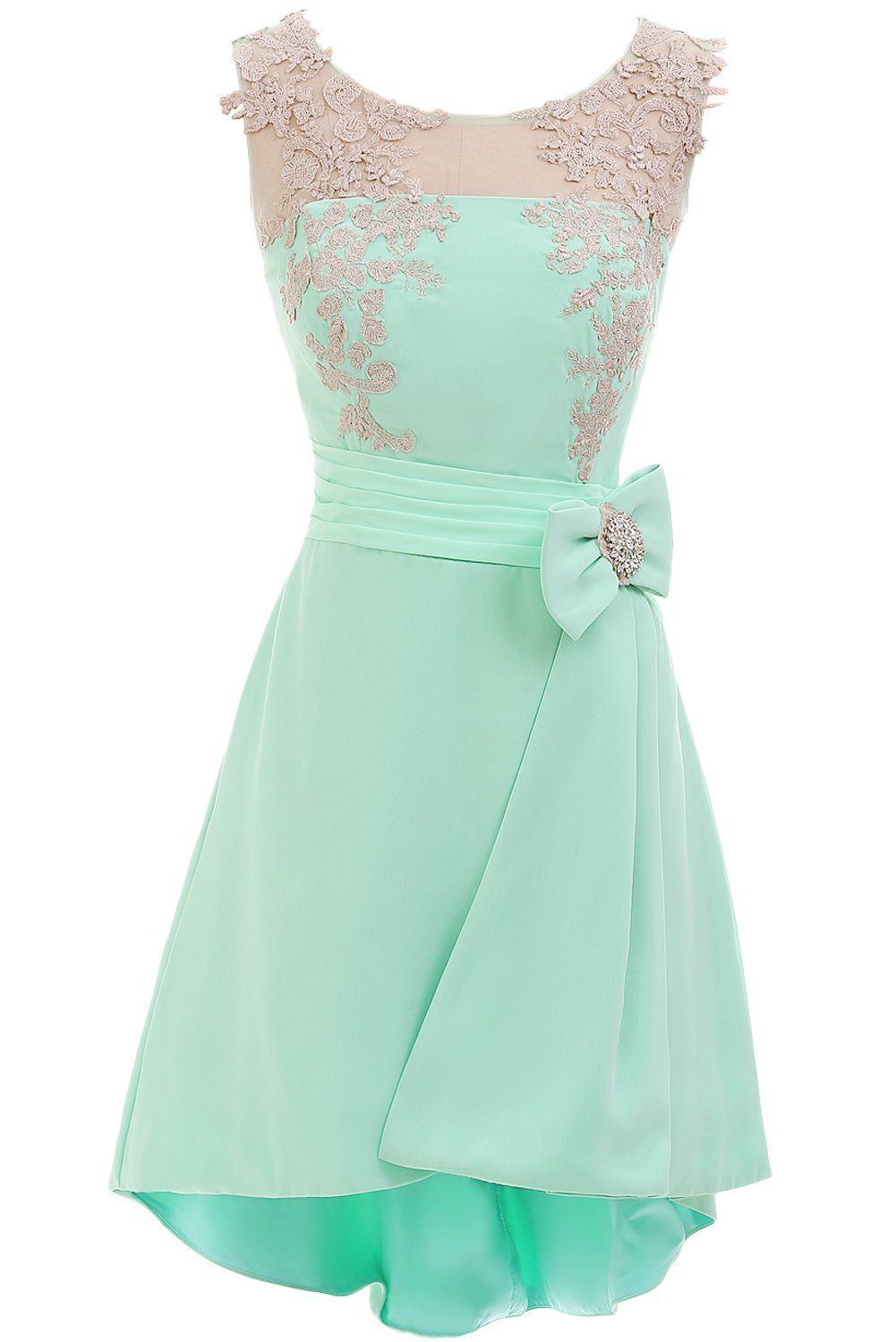 Sunvary High Low Mint Cocktail Homecoming Dresses for Juniors ...