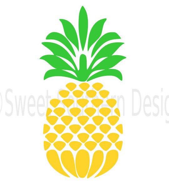 Download Pineapple monogram SVG instant download design for cricut ...