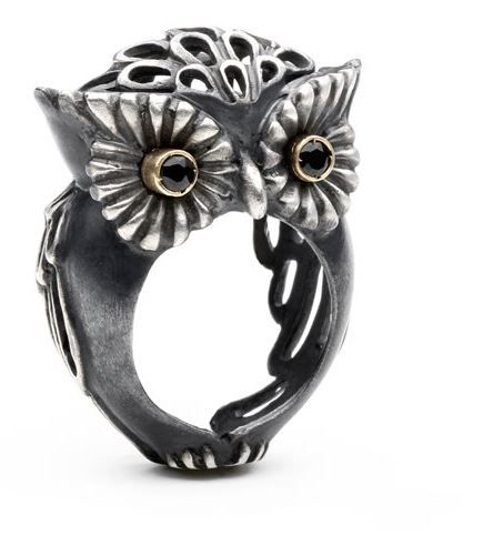 Jewelry Portal » Owl Ring by Selda Okutan