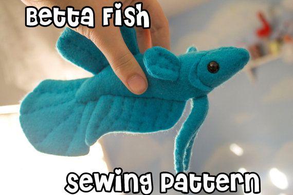 Betta Fish Sewing Pattern, PDF Pattern, Plushie Sewing Pattern ...