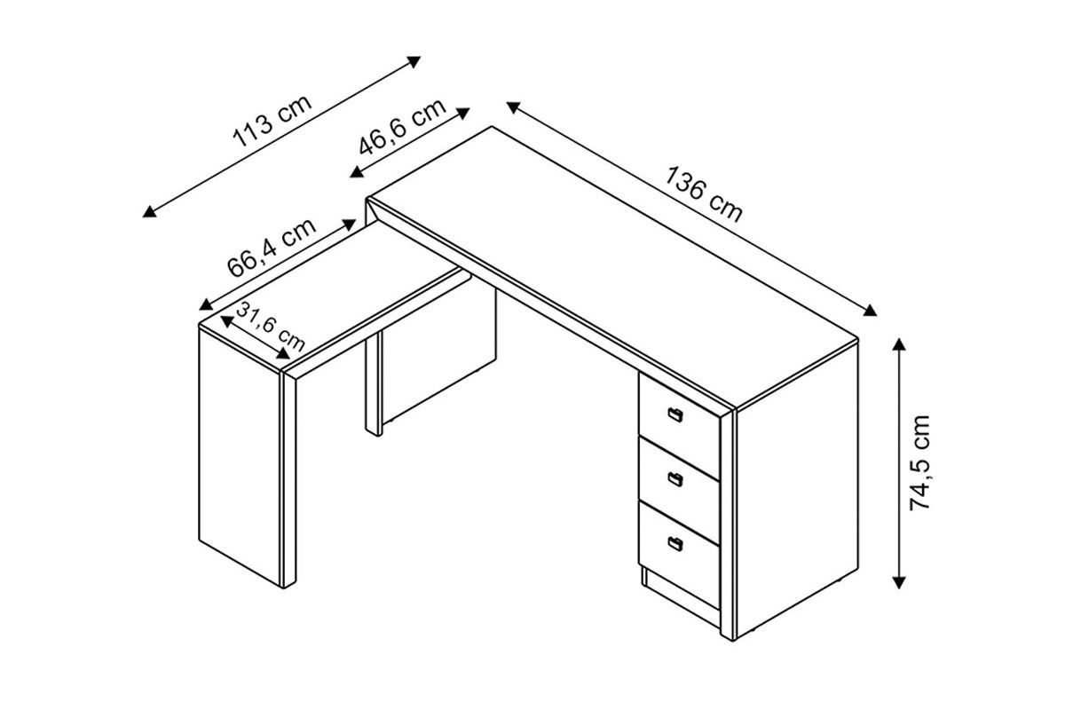 Resultado de imagem para medidas mesas de escrit rio for Medidas de muebles para oficina
