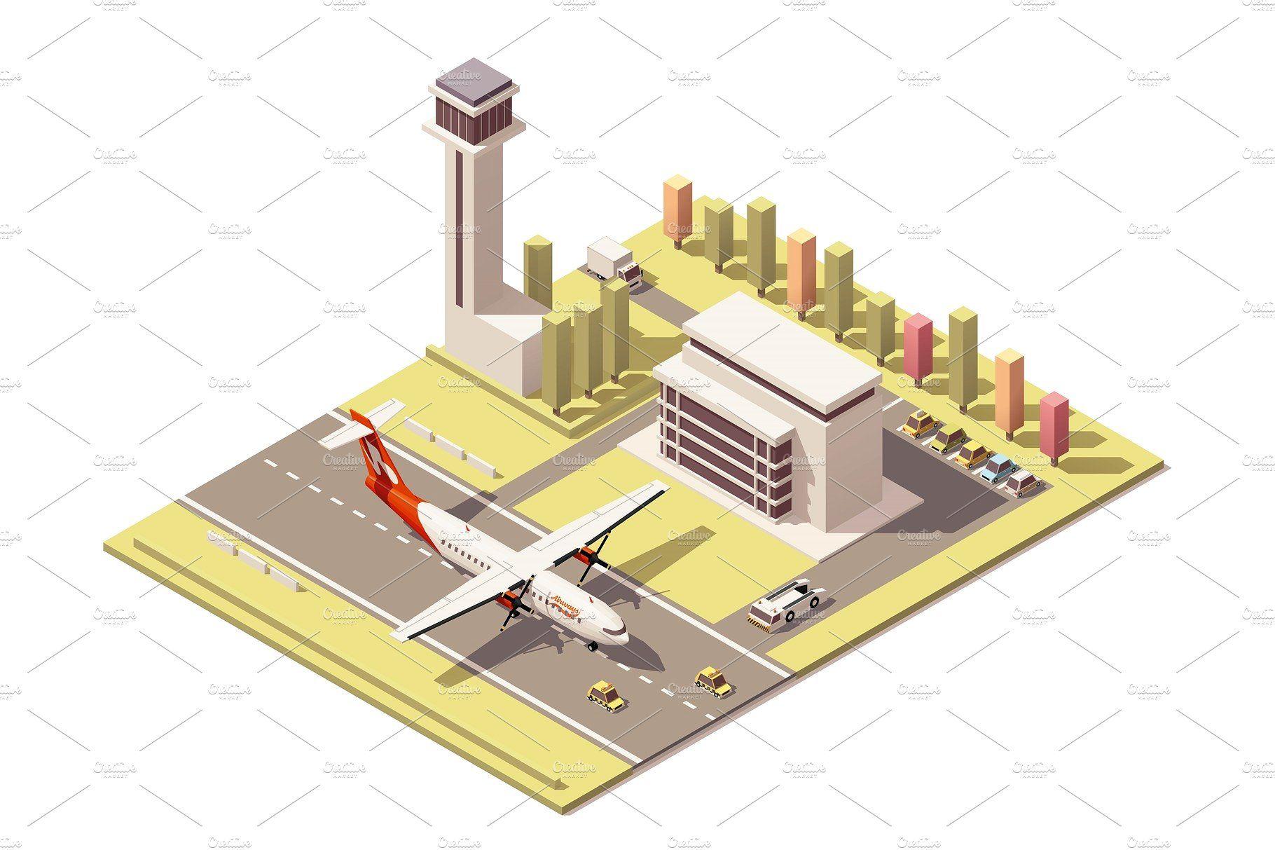 Hasil gambar untuk airport isometric