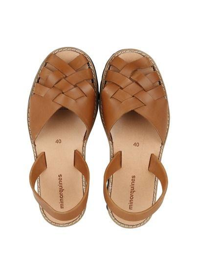 Sandales plates tressées en cuirMinorquines Kyylxo0