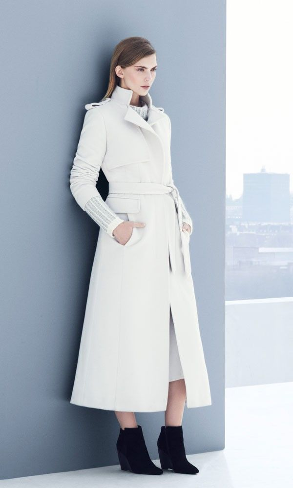 Marks and Spencer Autumn Winter 2013 Collection | White coats ...