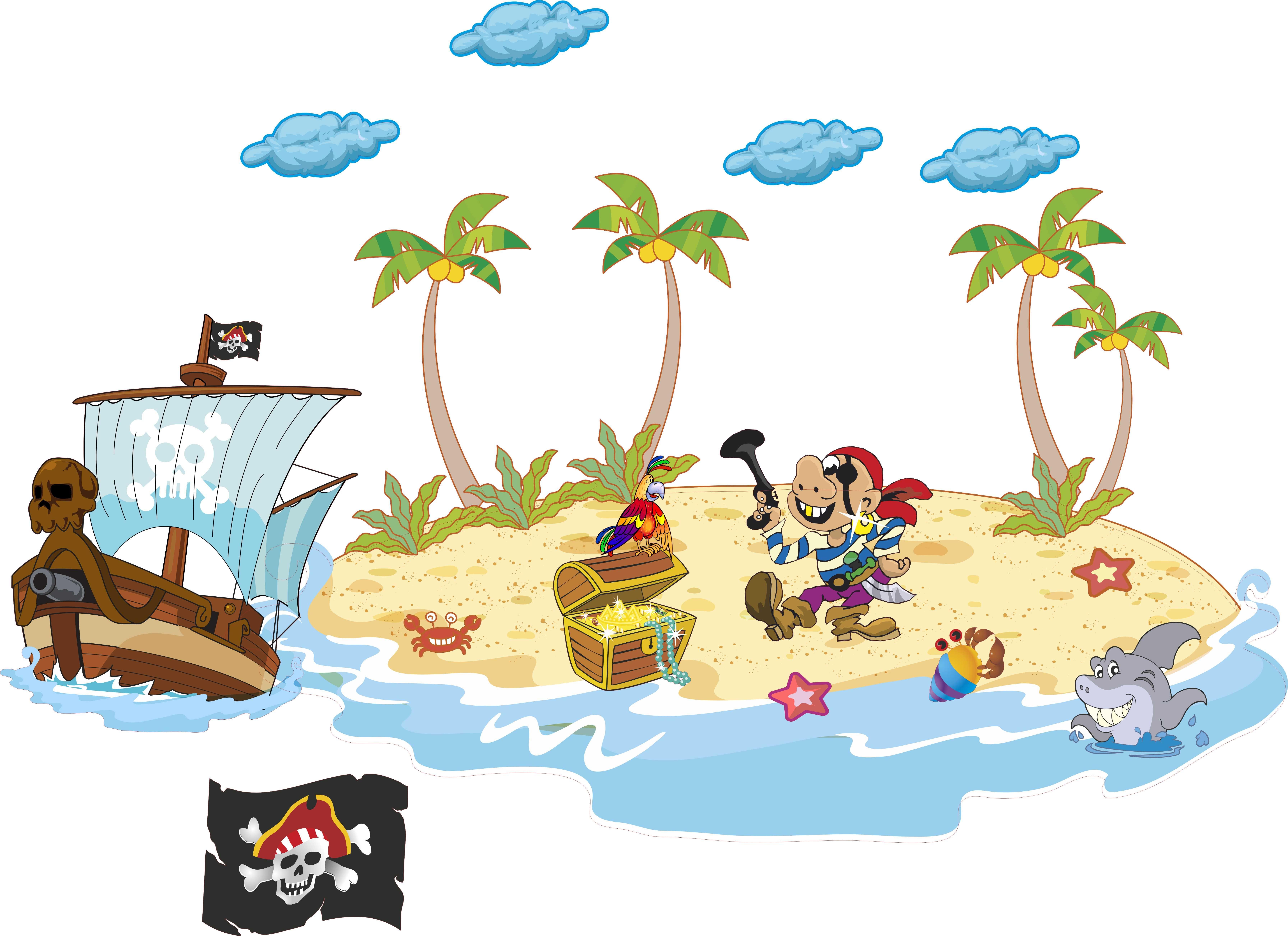Praatplaat Piracidodruku Piraten Thema Kleuter