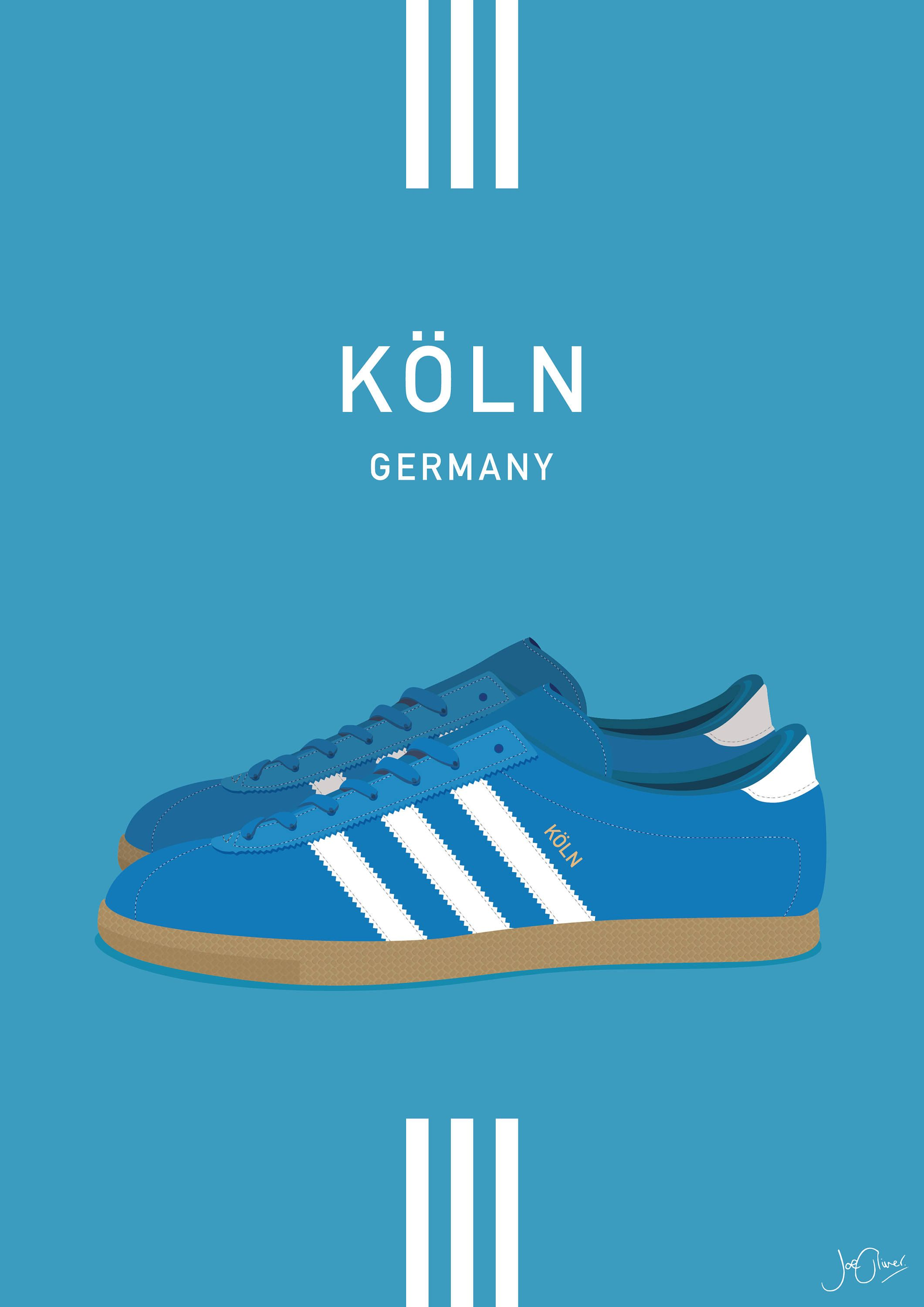 Adidas Originals Koln Illustrated Poster Print A6 A5 A4 A3
