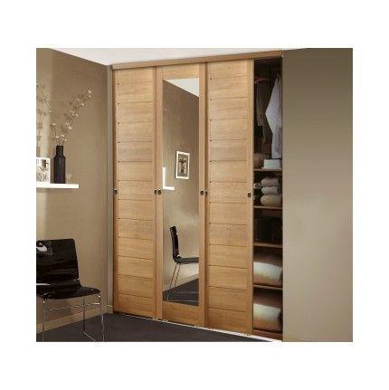 placard coulissant allure 3 vantaux avec miroir larg 1. Black Bedroom Furniture Sets. Home Design Ideas
