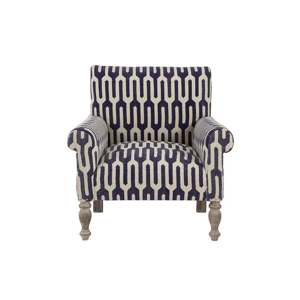 Pleasant Ivy Kilim Accent Chair In Geometric Indigo Products Gmtry Best Dining Table And Chair Ideas Images Gmtryco