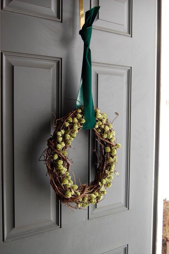 14 Inch Dried Hops Wreath Home Brewers Wreath Oktoberfest St