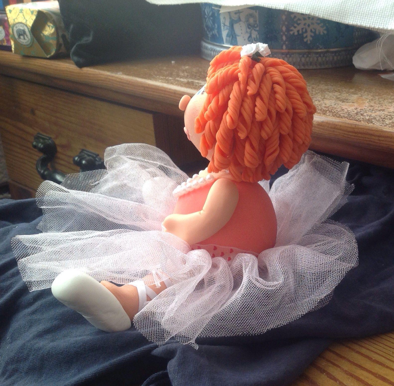 Porcelana fría ballerina atrás
