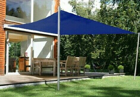 Canvas sun shade awning easy inexpensive too (With images ... on Canvas Sun Shade Pergola id=56180