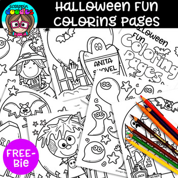 Free Halloween Fun Coloring Pages By Scrappin Doodles Tpt Halloween Coloring Book Free Halloween Coloring Pages Cool Coloring Pages