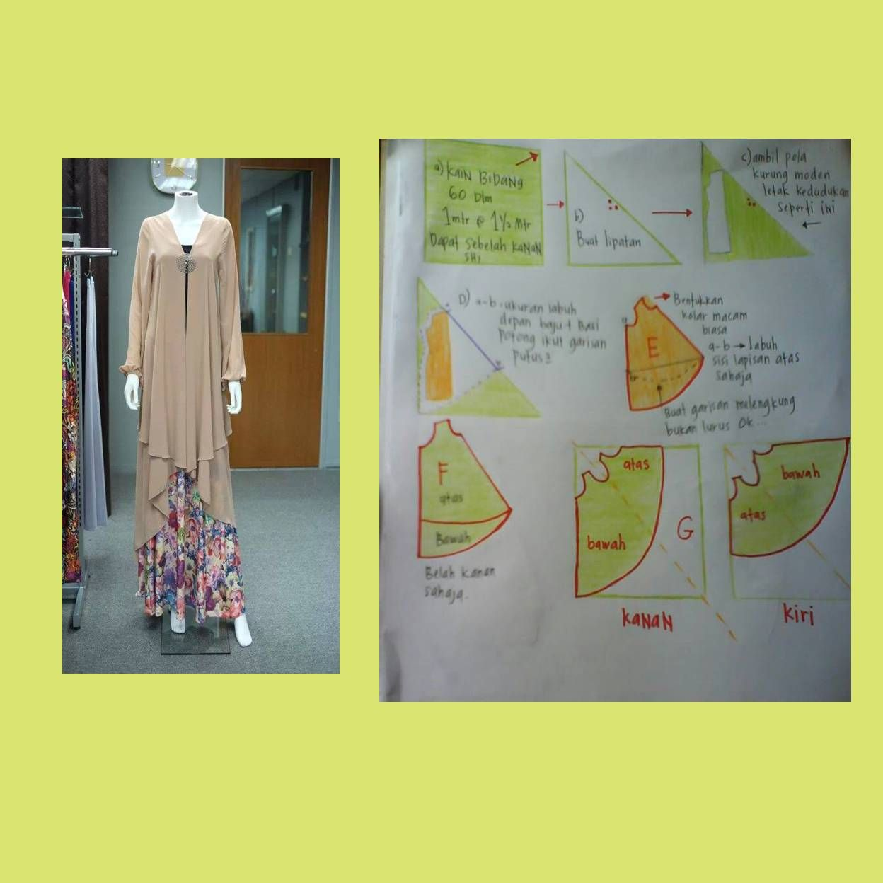 Kebaya cardigan, 2 layer