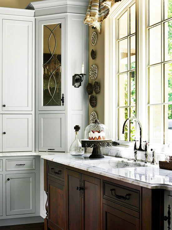 Glass Front Cabinetry Beautiful Kitchens Leaded Glass Cabinets