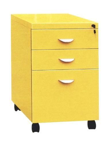 Sleek Steel Mobile File Cabinet