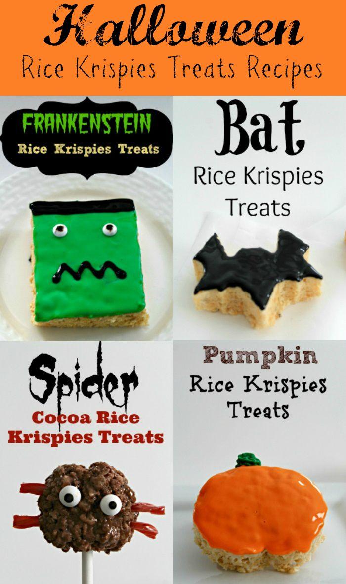 four fabulous halloween rice krispies treats recipes bat spider frankenstein pumpkin