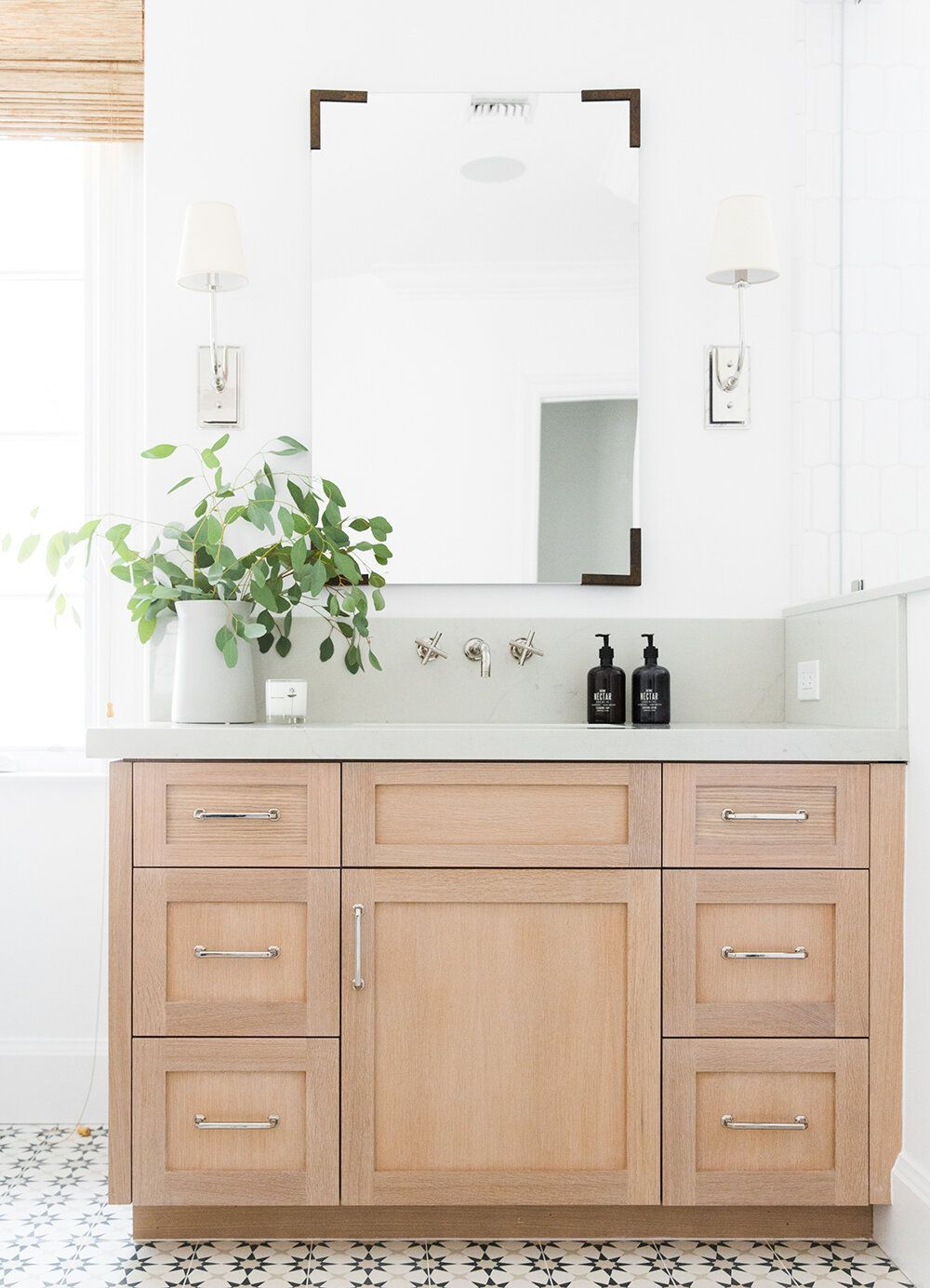 How To Choose The Right Mirror For Your Space Studio Mcgee In 2020 Pretty Bathrooms Large Bathroom Remodel Design Your Own Bathroom