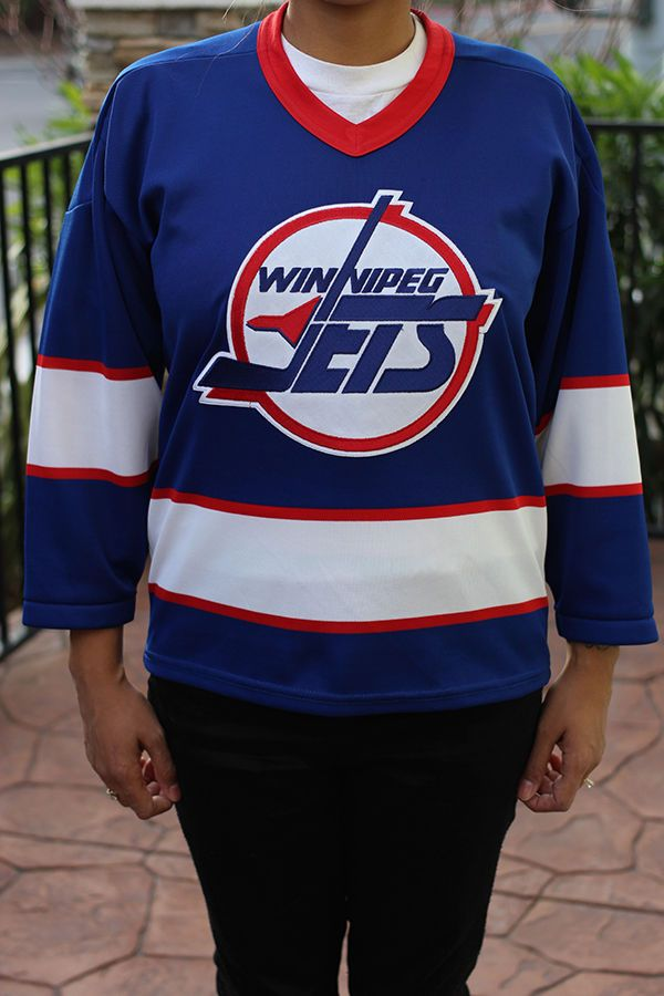 huge discount c73fa e8a4b Vintage Winnipeg Jets Goals For Kids Hockey Jersey (Kids L ...