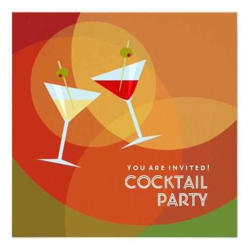Cocktail Party Einladung. Party EinladungEinladungskartenVorlageCocktail  Party ...
