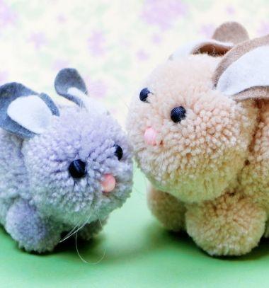 Diy Pompom Bunny Easy Easter Yarn Craft For Kids Egyszeru