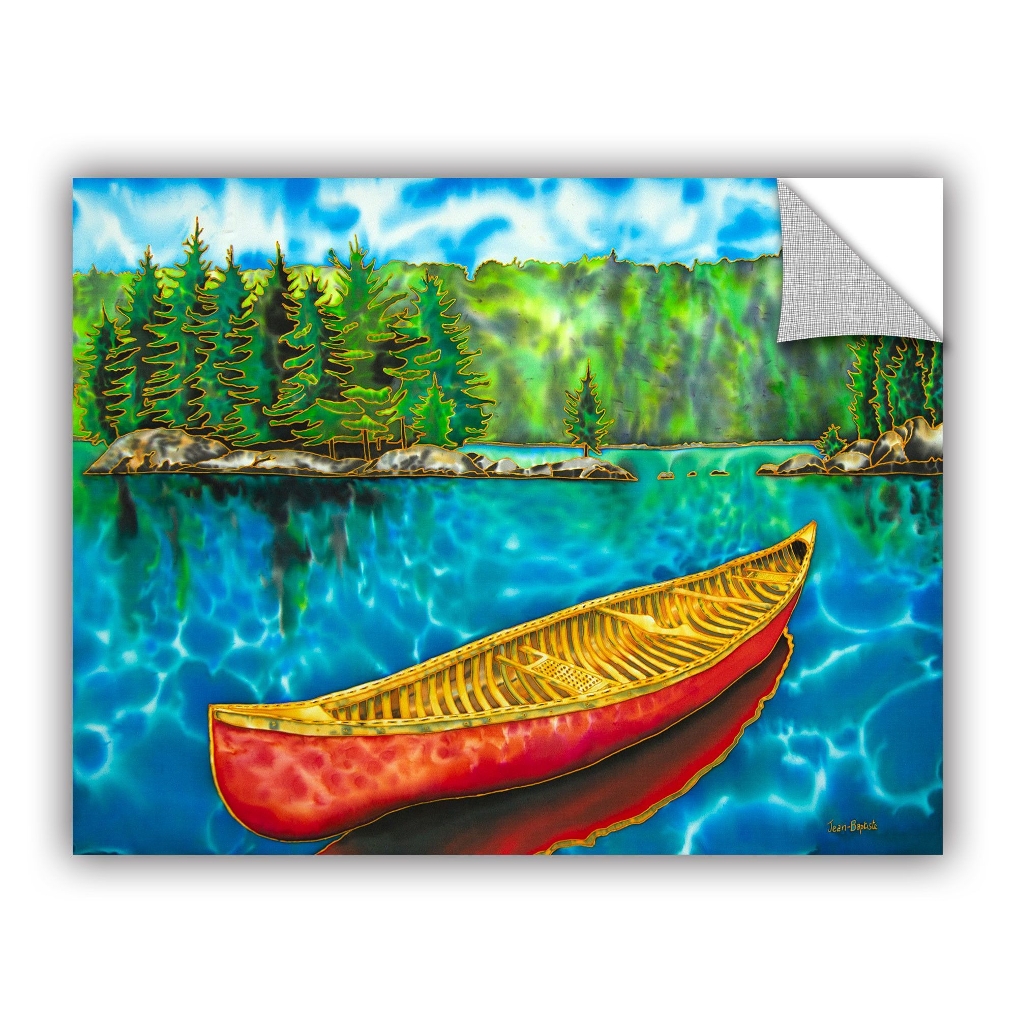 Daniel Jean Baptiste Algonquin Park Canada Red Canoe Wall Mural