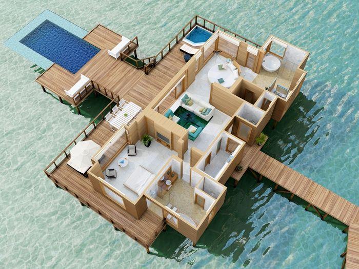 Conrad maldives rangali island hotel sunset water villa for Hotel conrad maldives ubicacion