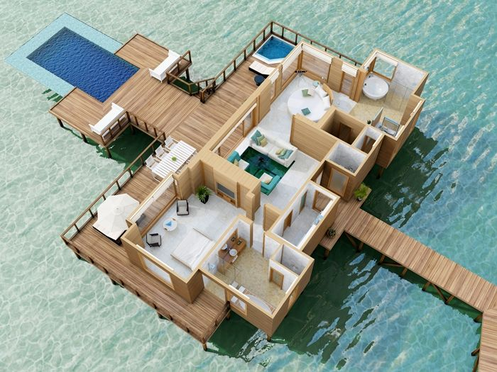 Conrad maldives rangali island hotel sunset water villa for Hotel conrad maldivas islas rangali