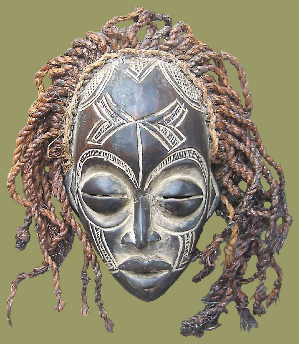 African Masks From East, West, South Africa.