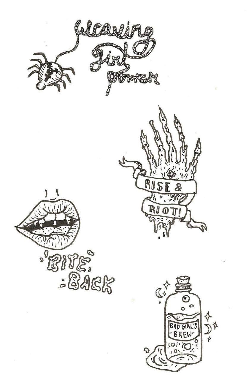 6 Sheets Wrist Body Art Henna Tattoo Stencil Flower: Feminist Tattoo, Sleeve Tattoos