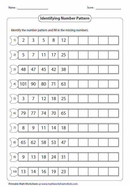 Here S A Site With A Wealth Of Number Pattern Pages Pattern