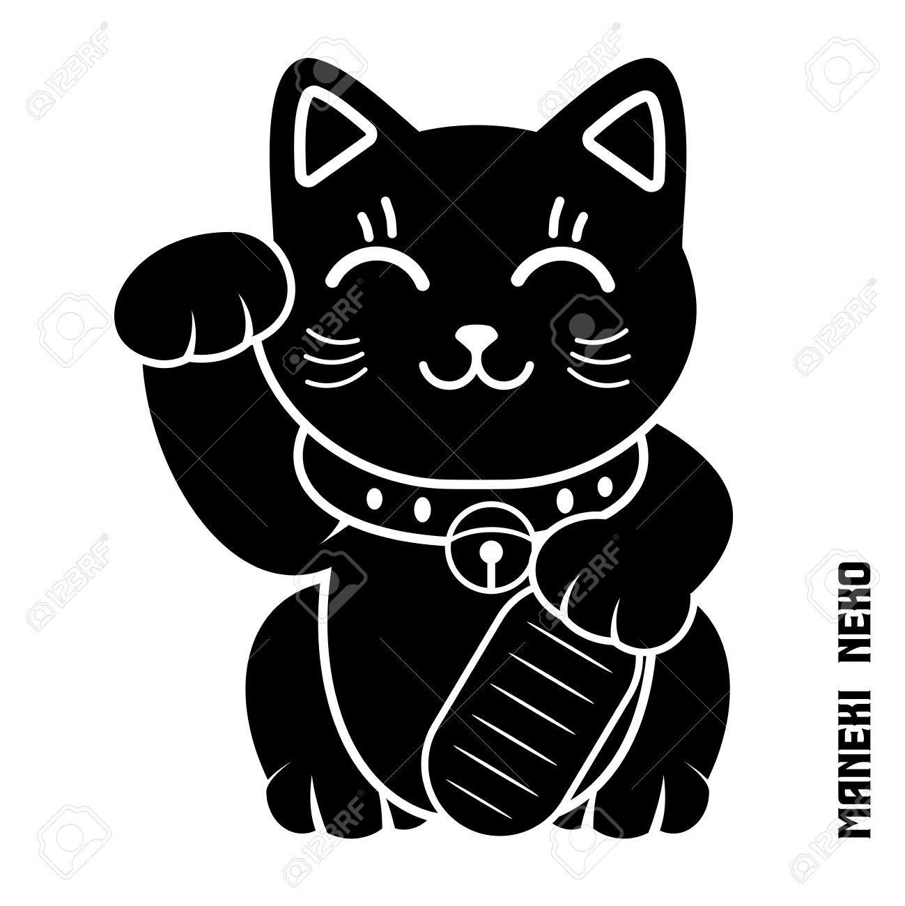 Vector Japanese Lucky Cat Illustration maneki Neko maneki cat Dollar cat