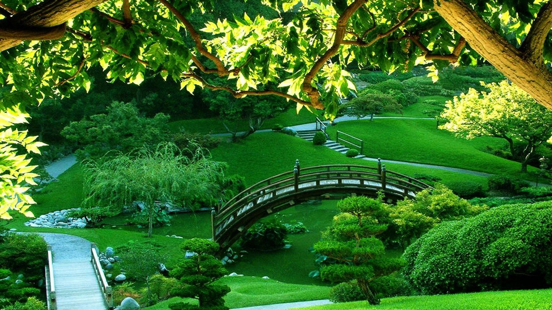 Green Park HD Wallpaper 1920 x 1080 Japanese garden